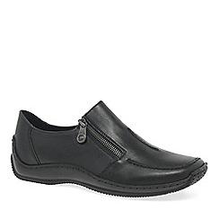 Rieker - Black leather 'Cloud' womens casual shoes