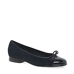 Gabor - Dark blue 'bunty' leather ballet pumps