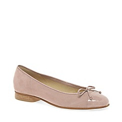 Gabor - Light pink 'bunty' leather ballet pumps