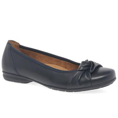 Gabor - Dark blue leather 'Ashlene' women's casual shoes