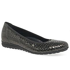 Gabor - Dark grey 'Splash' flat shoes