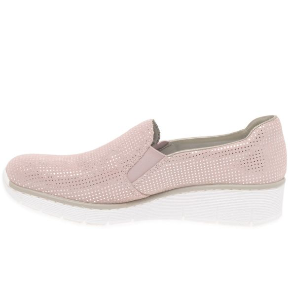 on shoes Rose 'Melgar' low Rieker heeled suede slip vZUwpqf