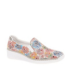 Rieker - Multi Coloured leather 'Melgar' low heeled slip on shoes