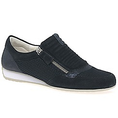 Gabor - Dark blue 'brunello' womens casual sports trainers
