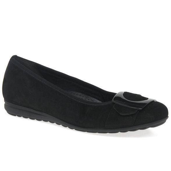 Gabor shoes Black casual womens 'Cash' ballerina modern 1pUw1rq