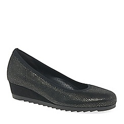 Gabor - Dark grey 'Epworth' womens modern ballerina shoes
