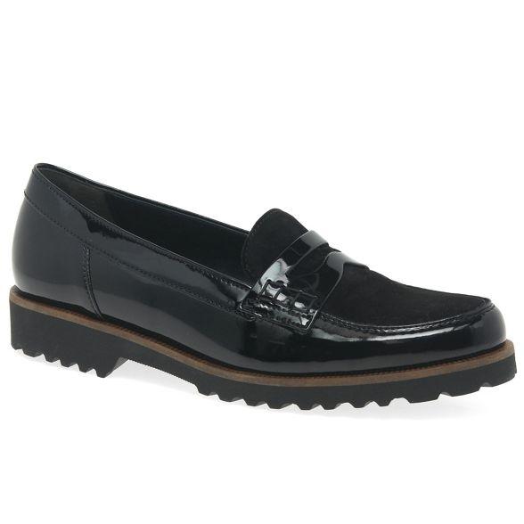 casual womens 'Skipper' shoes Black Gabor xRYq7BPw