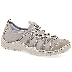 Rieker - Beige 'lesson' womens casual sports shoes