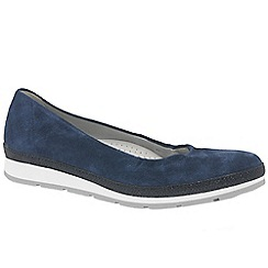 Gabor - Navy suede 'Bridget' womens casual pumps