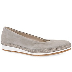 Gabor - Fawn suede 'Bridget' womens casual pumps