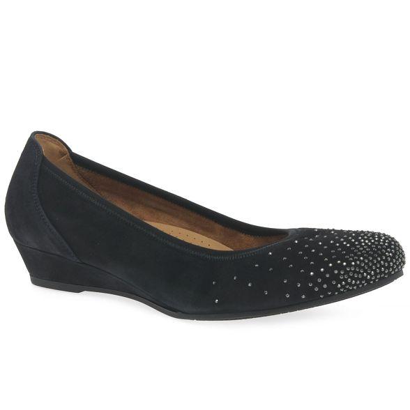 casual suede shoes blue Dark 'arya' Gabor womens qafTWCn