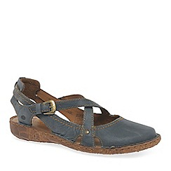 Josef Seibel - Blue leather 'Rosalie 13' flat closed toe sandals