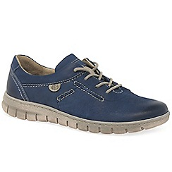 Josef Seibel - Blue leather 'Steffi 07' flat lace up shoes