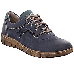 Josef Seibel - Mid blue leather 'Steffi 07' flat lace up shoes