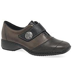 Rieker - Grey leather 'Julie' flat shoes