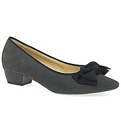 Gabor - Grey suede 'Tarbert' low heeled Court shoes
