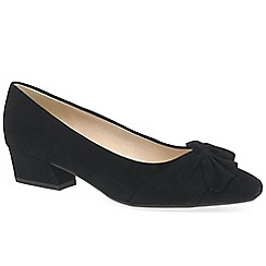 Peter Kaiser - Black suede 'Indora' womens dress court shoes