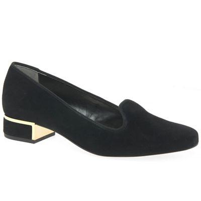 Van Dal - Black suede 'Belsize' court shoes