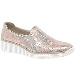 Rieker - Pink 'Jinx' wedge heeled casual shoes