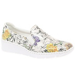 Rieker - Multi Coloured 'Jinx' wedge heeled casual shoes