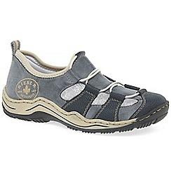 Rieker - Navy 'Cord II' womens sports shoe