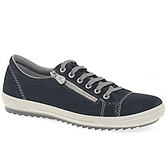 Rieker - Dark blue suede 'Note' lace up sports shoes