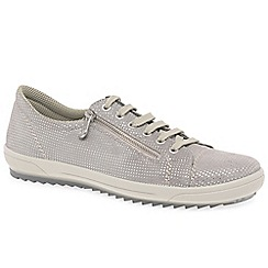 Rieker - Grey suede 'Note' lace up sports shoes