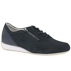 Gabor - Navy suede 'Maybelle' trainers
