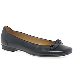 Gabor - Navy leather 'Craiglea' flat ballet pumps