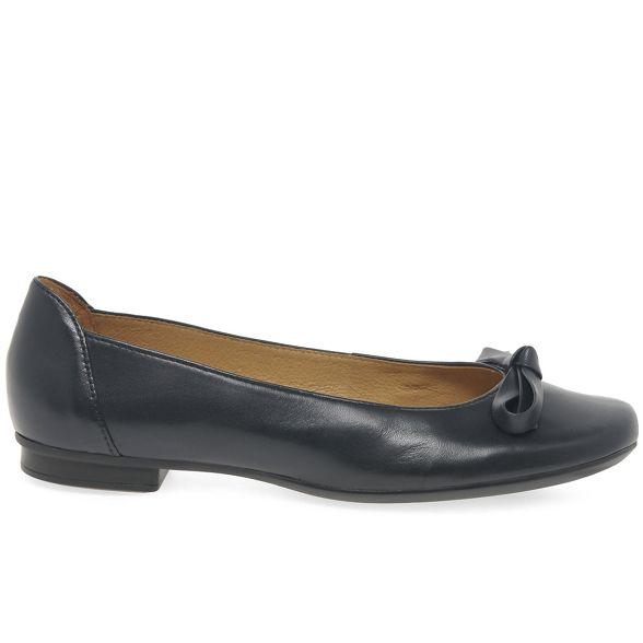 'Craiglea' leather ballet Navy pumps Gabor flat TYAqn