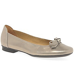 Gabor - Gold leather 'Craiglea' flat ballet pumps