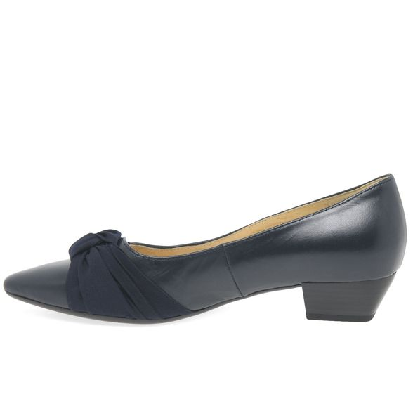 Gabor low shoes 'Fifi' heeled leather court Navy w1xwq8r0