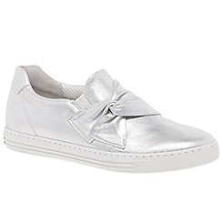 Gabor - Silver suede 'Actor' slip on fashion trainers