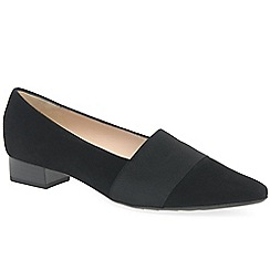 Peter Kaiser - Black suede 'Lagos II' low heeled court shoes