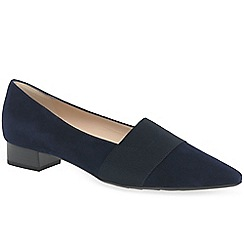 Peter Kaiser - Navy suede 'Lagos II' low heeled court shoes
