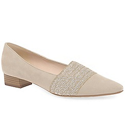 Peter Kaiser - Beige suede 'Lagos II' low heeled court shoes