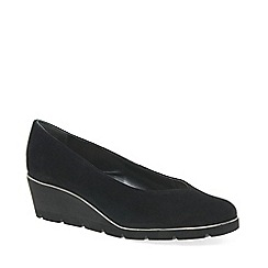 Van Dal - Black suede 'Ariah' mid heeled wedge shoes
