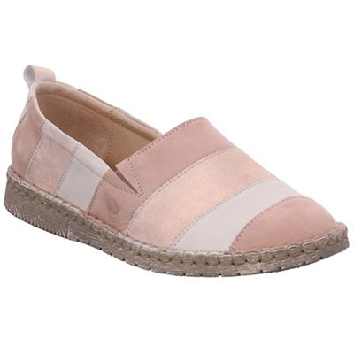 Josef Seibel - Pink leather 'sofie 23' flat slip on shoes