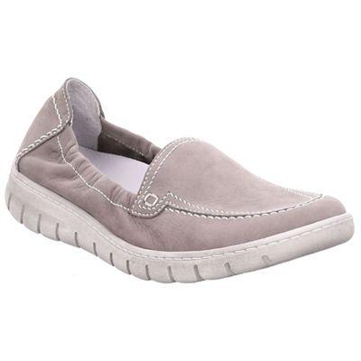 Josef Seibel - Grey nubuck 'Steffi 57' flat slip on shoes