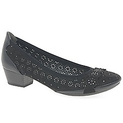 Marco Tozzi - Black 'Angelico' mid heeled court shoes