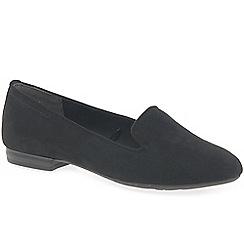 Marco Tozzi - Black 'Ribera' flat slip on shoes