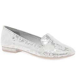 Marco Tozzi - Silver 'Ribera' flat slip on shoes