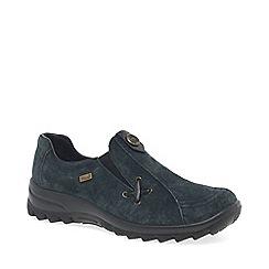 Rieker - Dark blue suede 'Eemilia' flat loafers