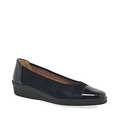 Gabor - Dark blue 'Petunia' mid heeled wedge pumps