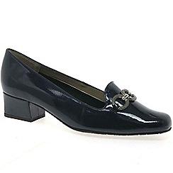 Van Dal - Navy 'Twilight' womens wide fit court shoes
