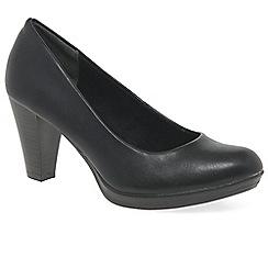 Marco Tozzi - Black 'Claudia' Womens dress court shoes