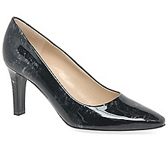 Peter Kaiser - Black patent 'Tosca' womens court shoes