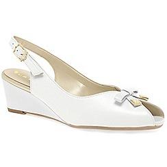 Van Dal - White 'Meade' womens peep toe slingback shoes