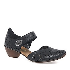 Rieker - Black 'Pip' womens open court shoes