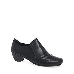 Rieker - Black 'Odyssey' womens high cut court shoes
